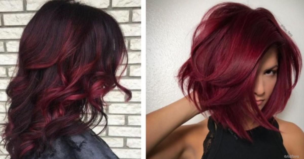 Цвет волос глинтвейн девушка