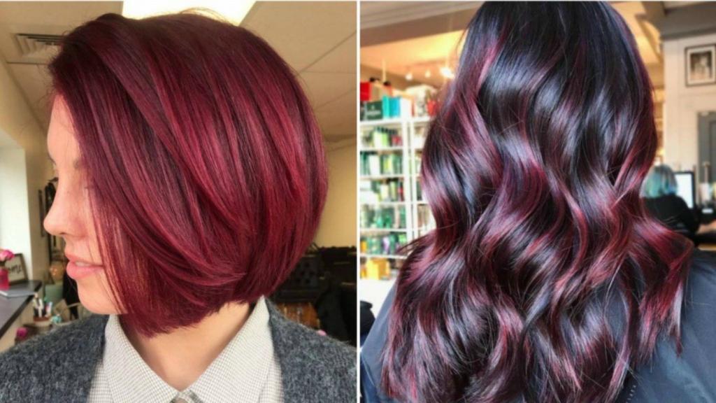 фото цвет волос глинтвейн