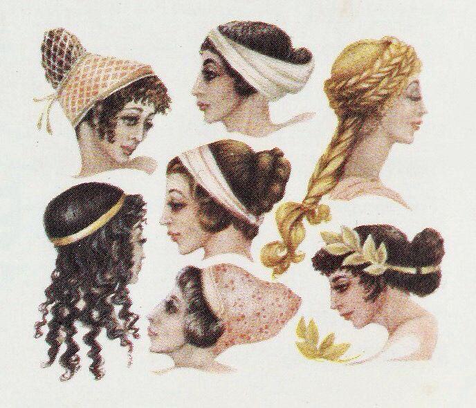 Греки волосы и прически какие