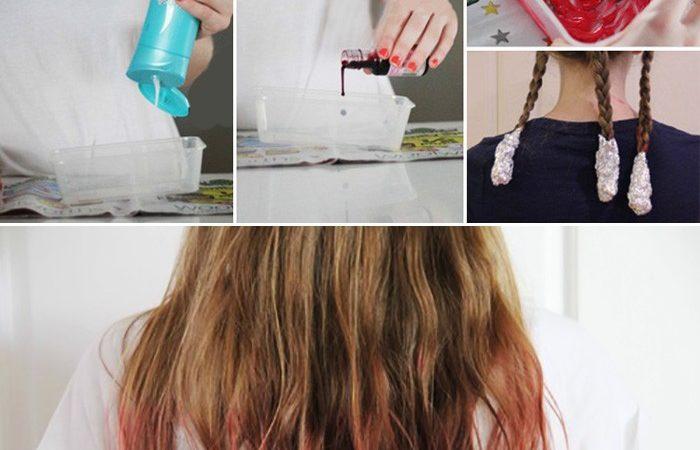 Как покрасить темные волосы без краски