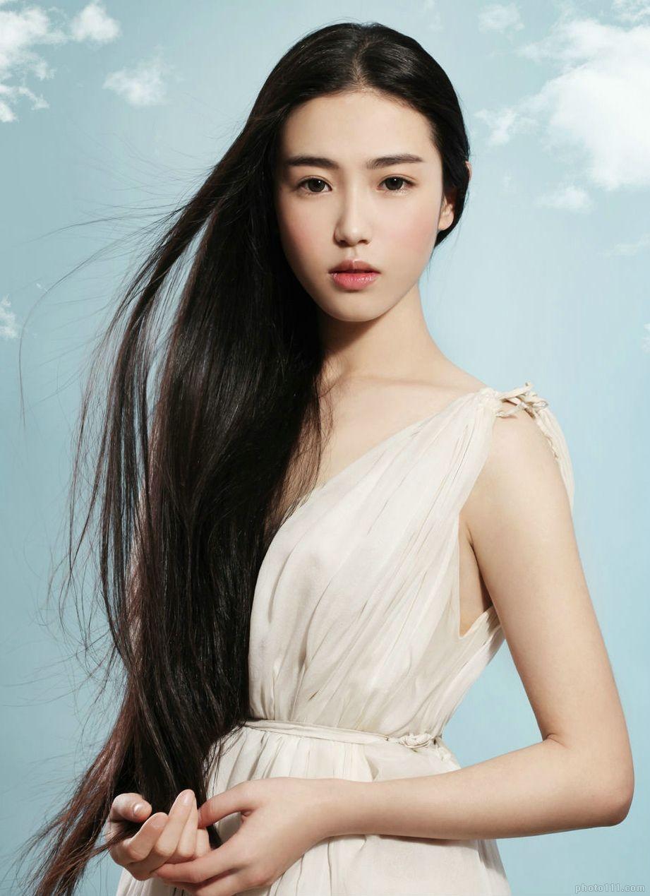 Китаянки с длинными волосами
