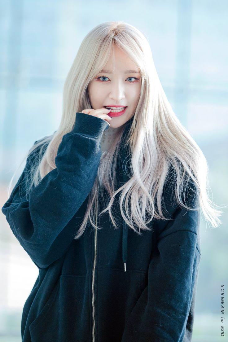 Кореянка с белыми волосами модель