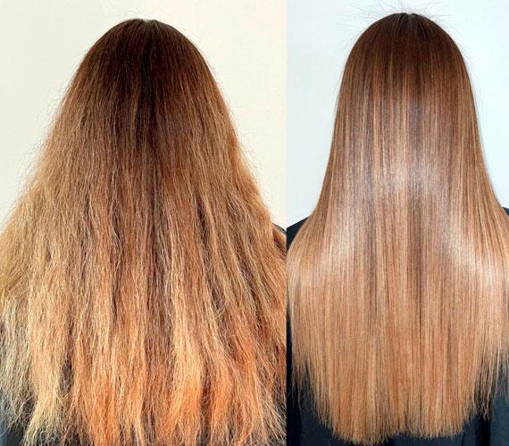 Кератин на тонкие волосы