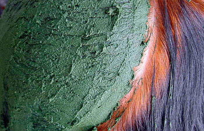 Покрасить волосы хной и басмой