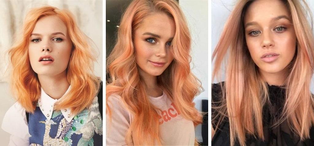 Абрикосовые волосы цвет фото