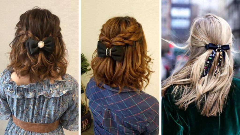 Бант для волос с аксессуарами