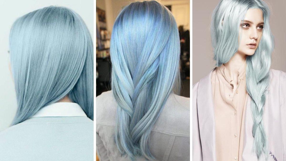Цвета волос синей сахарной ваты