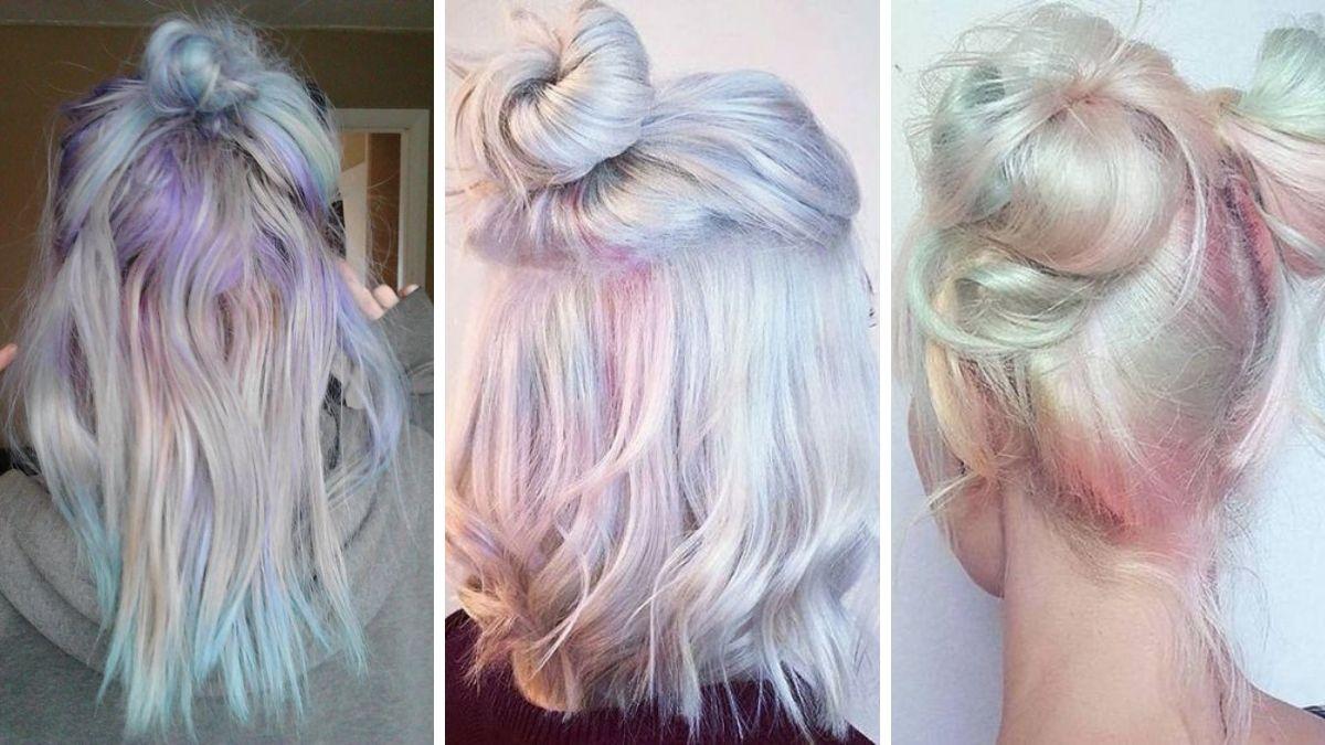 Голографические волосы - прически фото