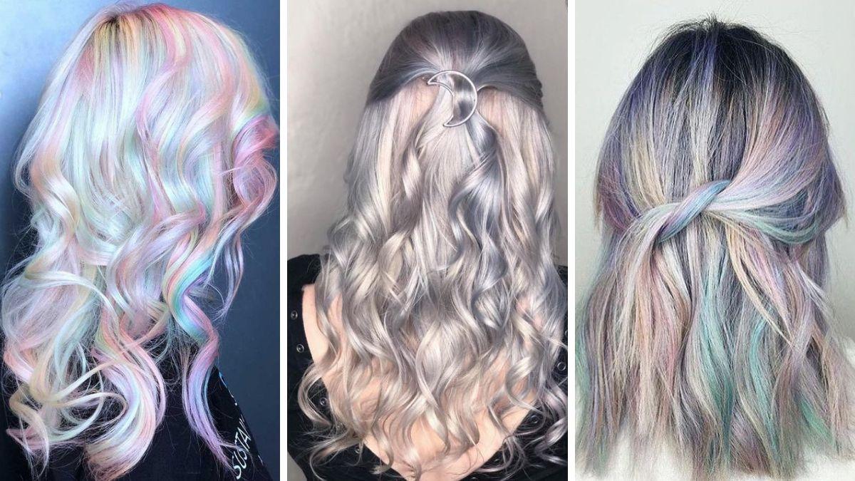 Голографические волосы - прически