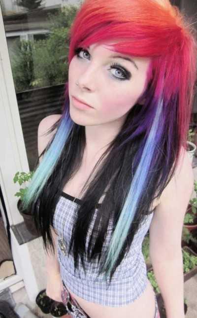 Волосы эмо