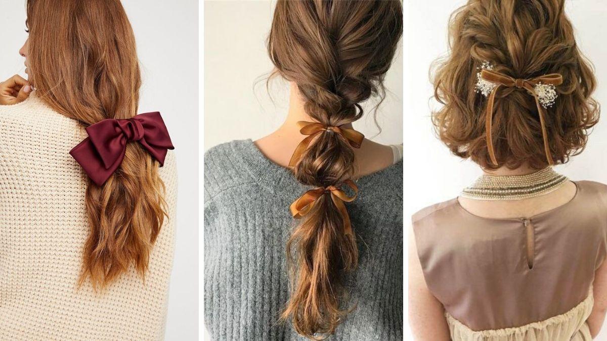 Как носить резинку-бант для волос