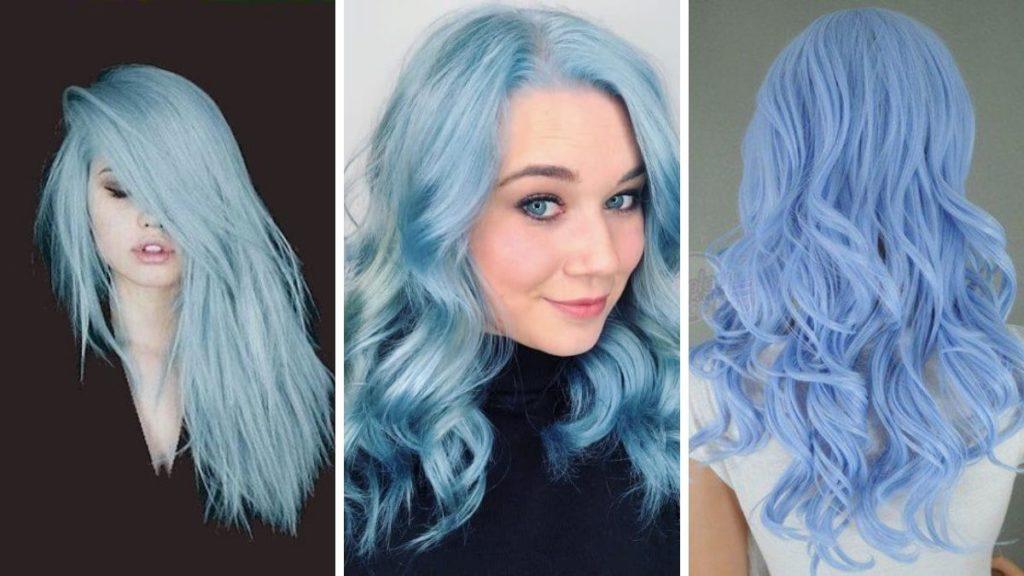 Как сделать волосы цвета синей сахарной ваты