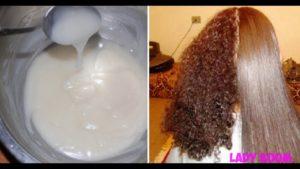 Маска для волос из крахмала и бальзама