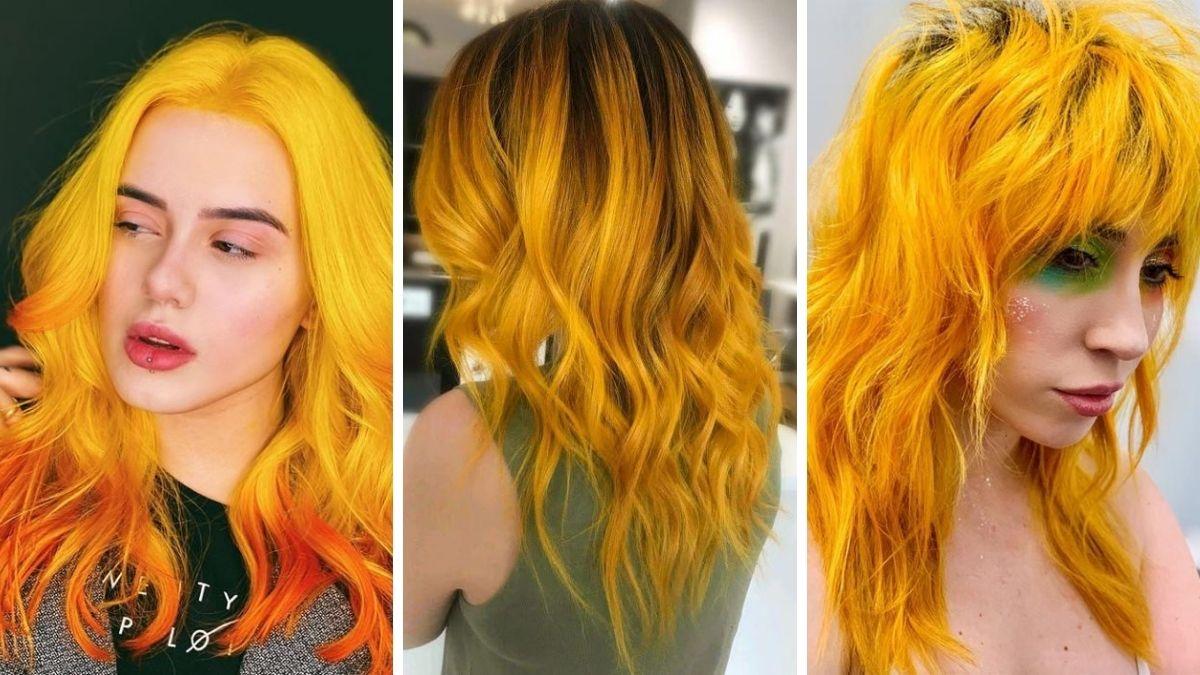 модный желтый цвет волос фото