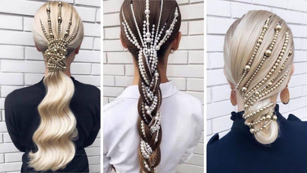 Необычный хвост на волосах