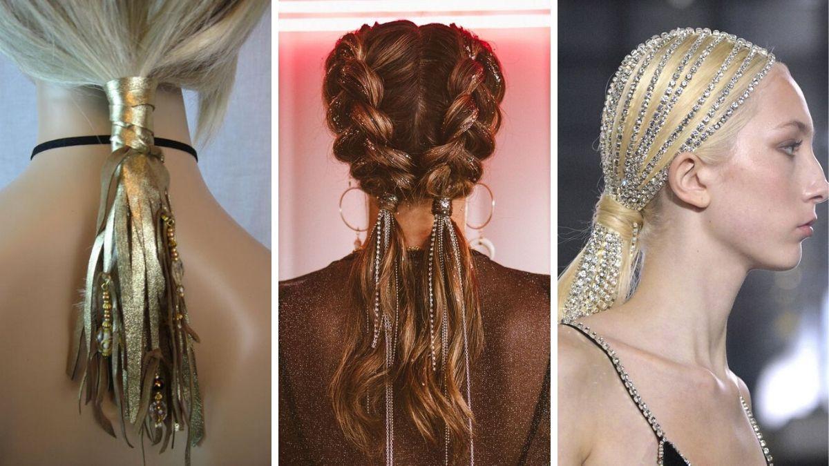 Необычный хвост на волосах прически