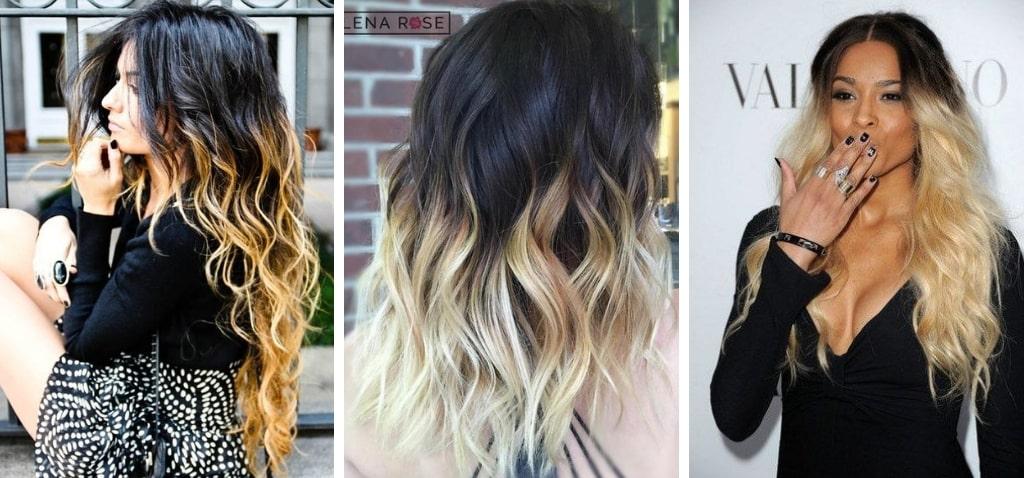 омбре отлично смотрится на коричневых волосах и на блондинках.