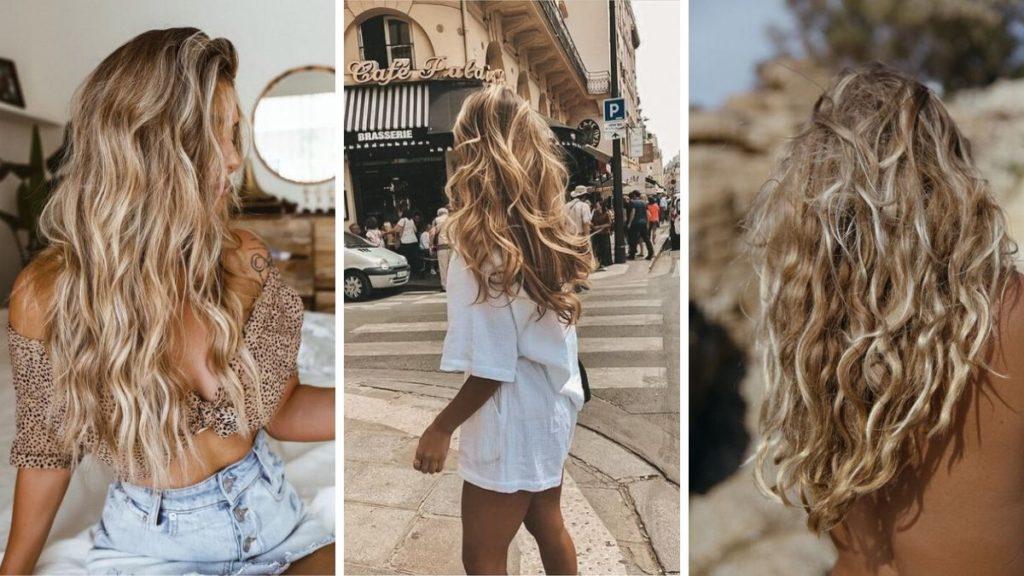 Пляжные волны прическа на волосах