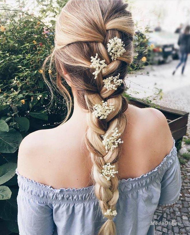 прическа на лето на длинные волосы