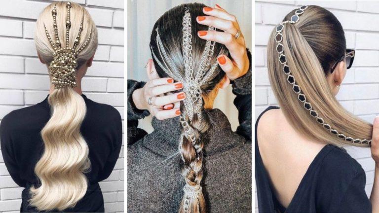 Необычные хвосты на волосах