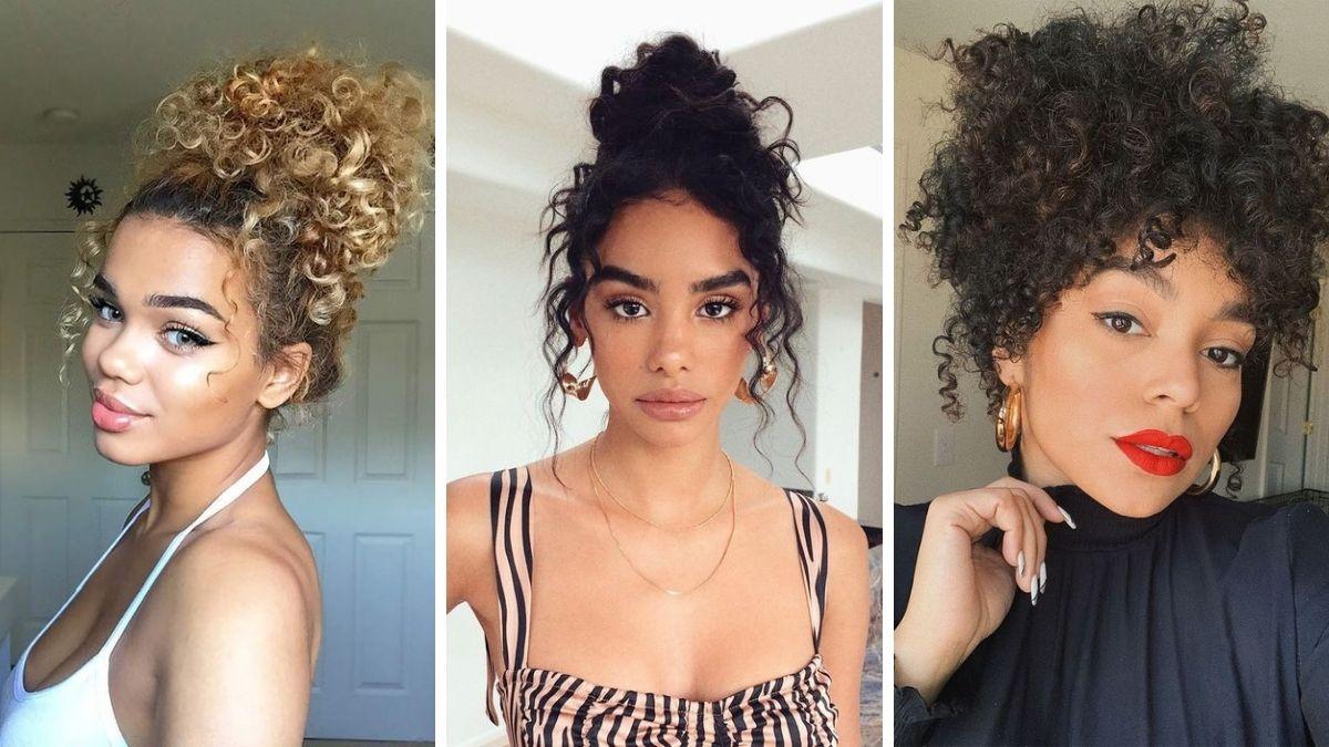 Прически вьющиеся волосы