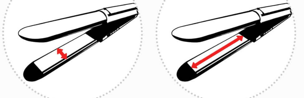размер пластин утюжка подойдет вашим волосам