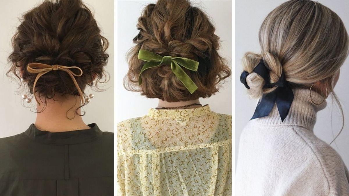 Резинка-бант для волос фото