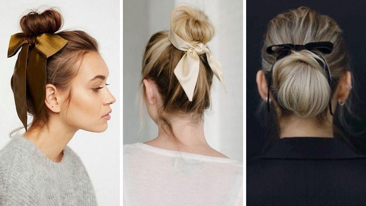 Резинка-бант для волос как носить