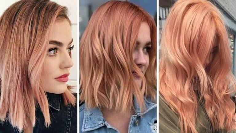 Розово-оранжевые волосы