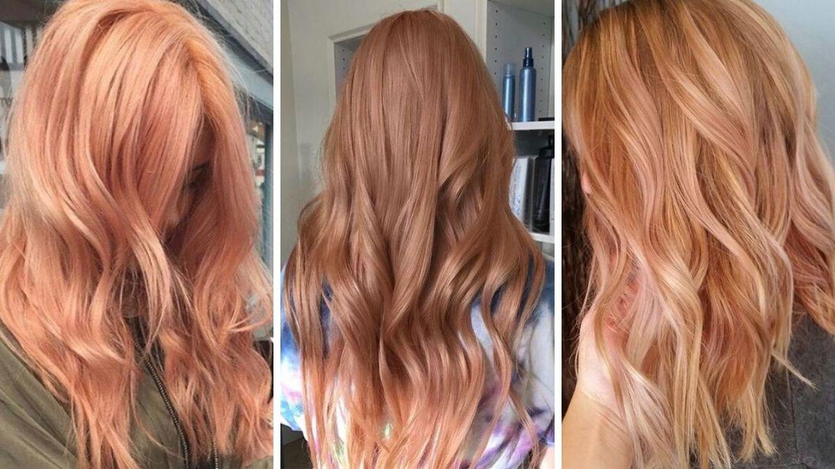 розово-оранжевый цвет волос фото