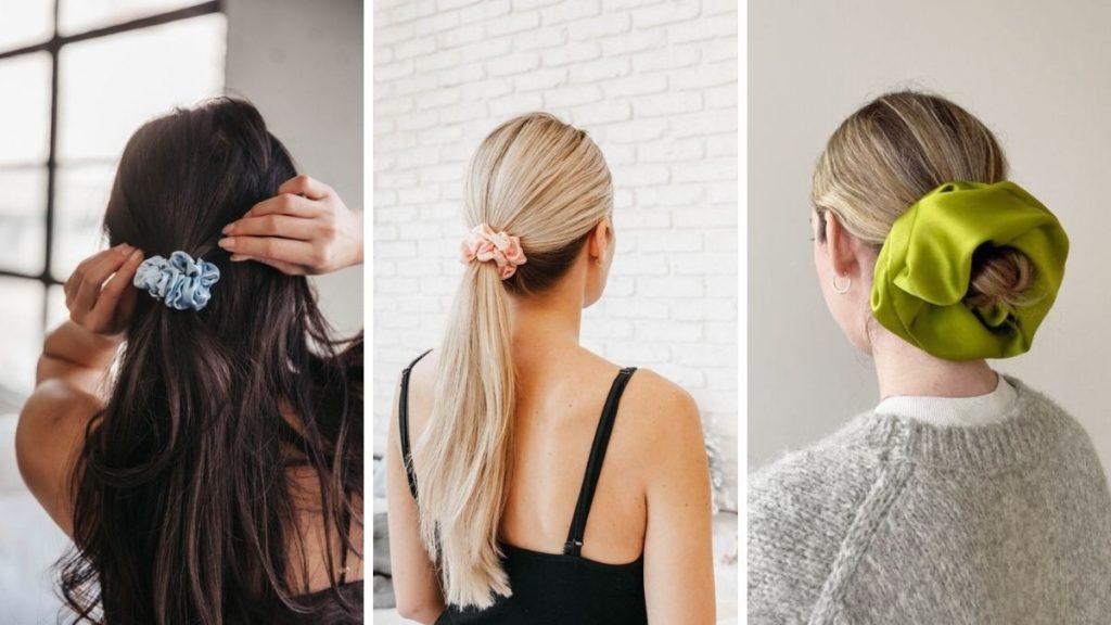 С чем носить шелковые резинки для волос