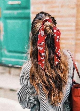 Как красиво завязать шарф на волосах