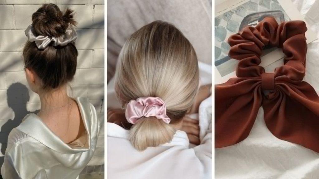 Шелковые резинки для волос