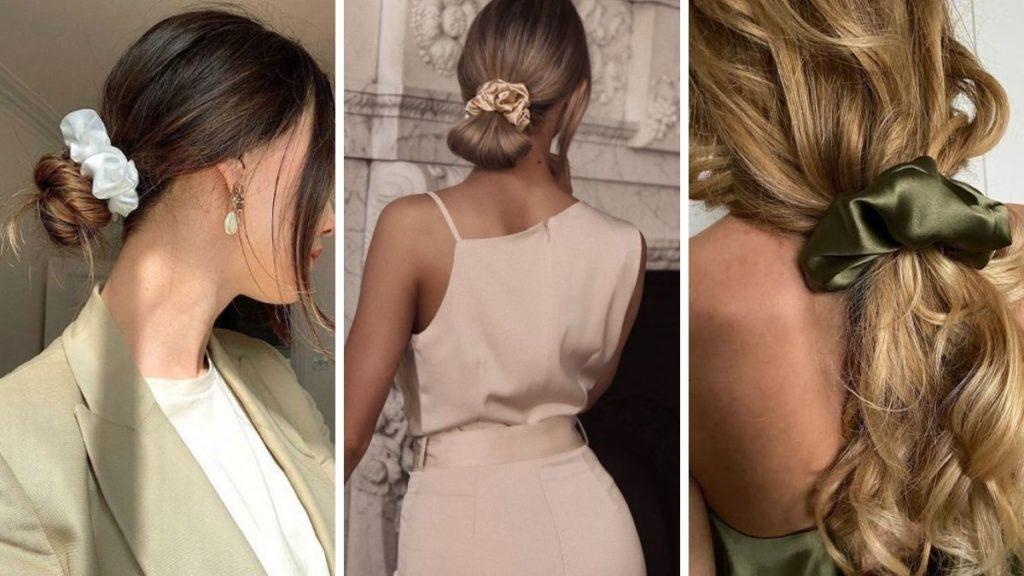 шелковые резинки для волос с чем носить