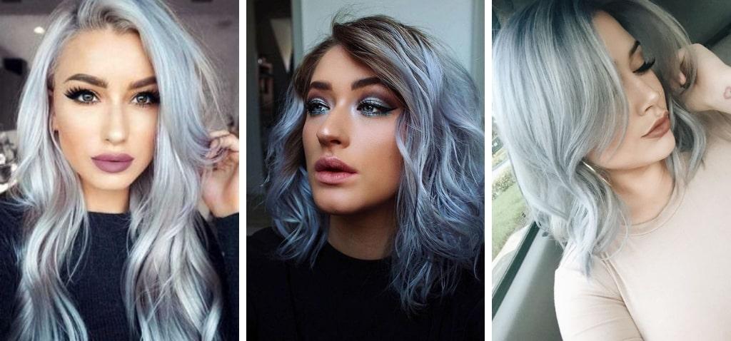 светло голубые волосы фото