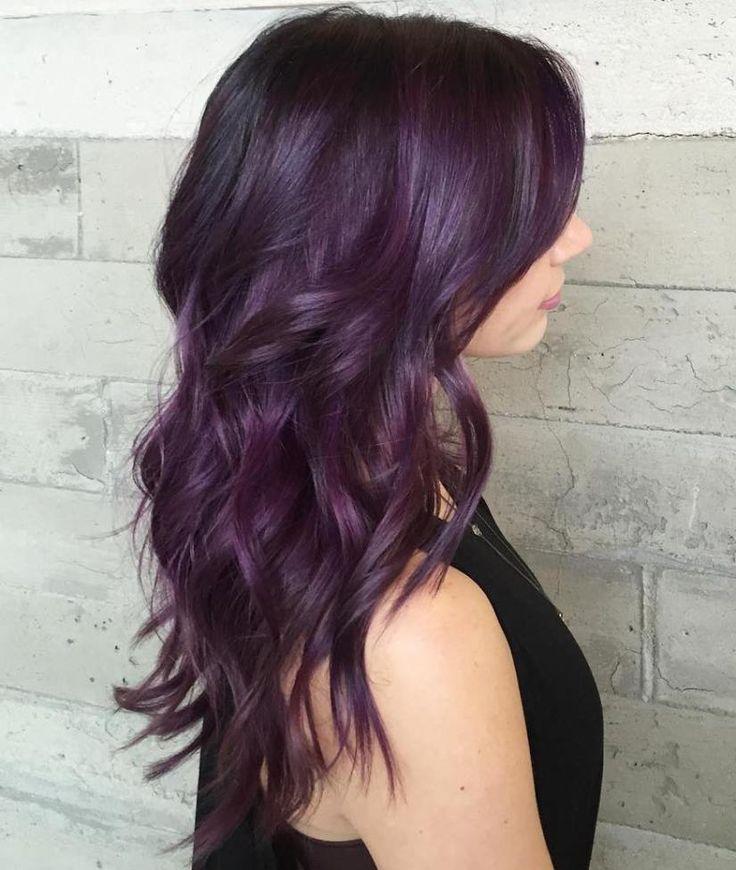 Темно-сиреневые волосы