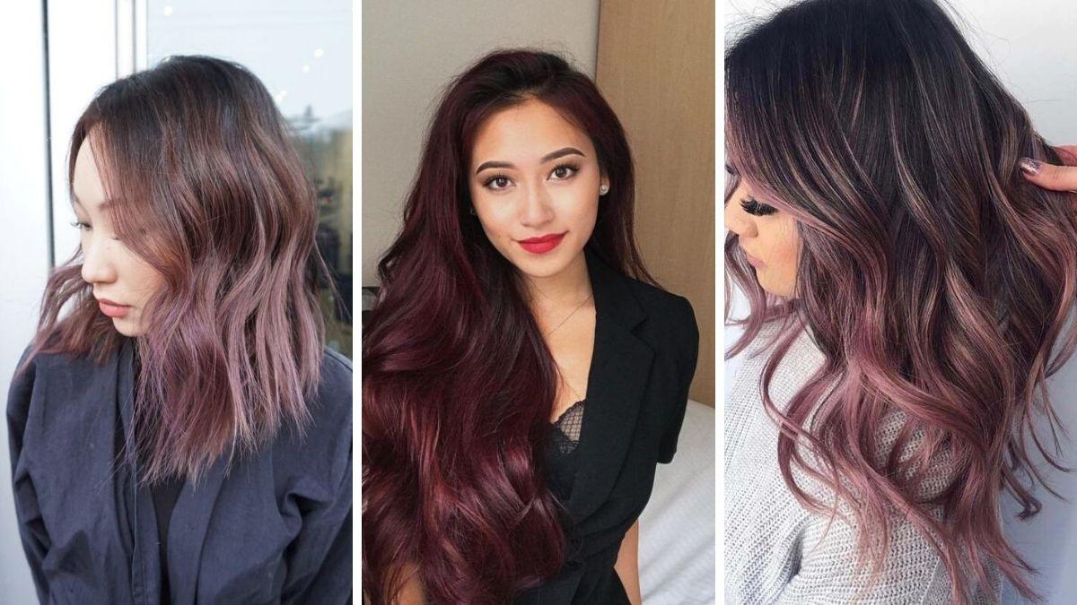 Темно-сиреневый цвет волос фото