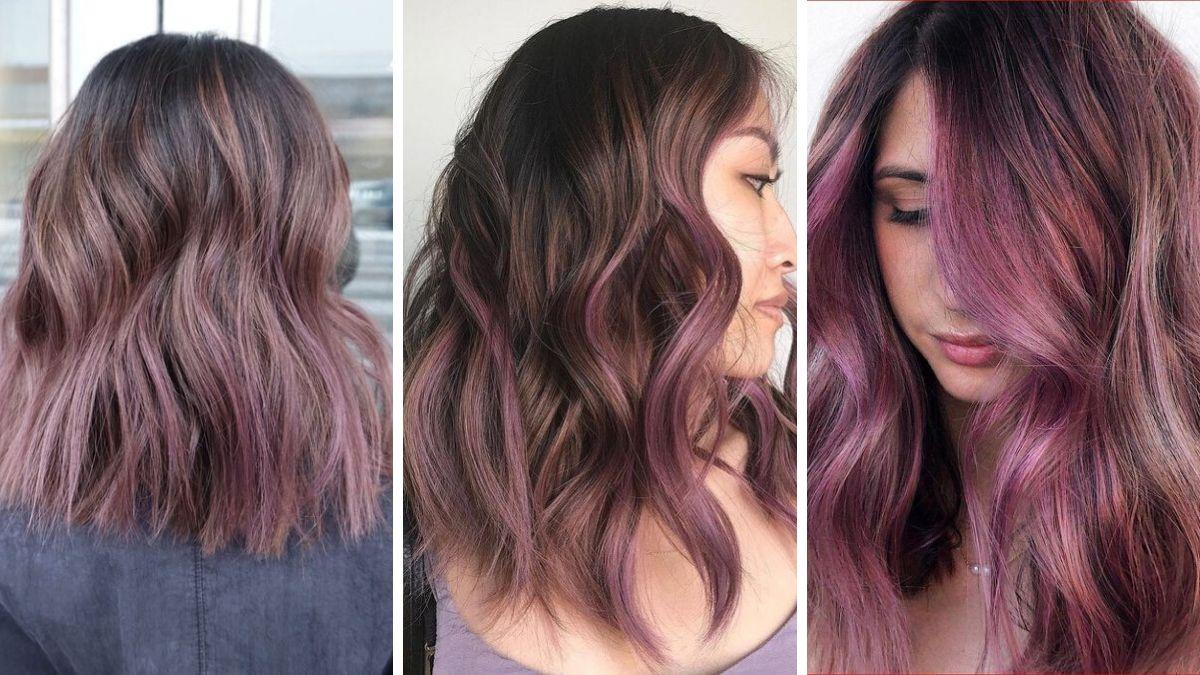 Темно-сиреневый цвет волос