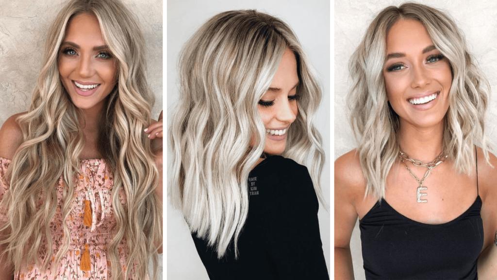Ванильный цвет волос блонд