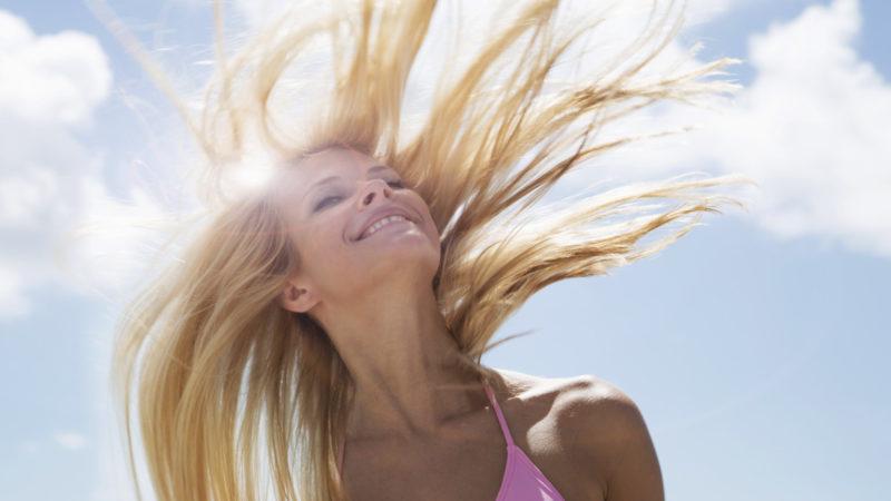 Влияние солнца на волосы