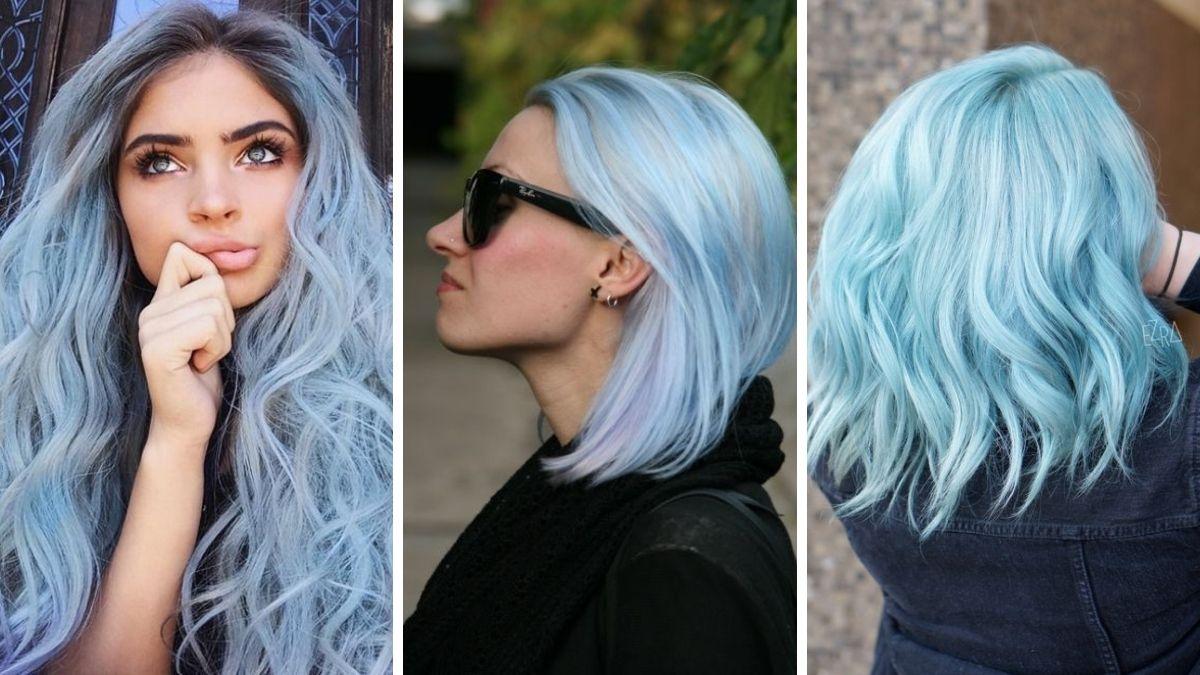Волосы цвета синей сахарной ваты фото
