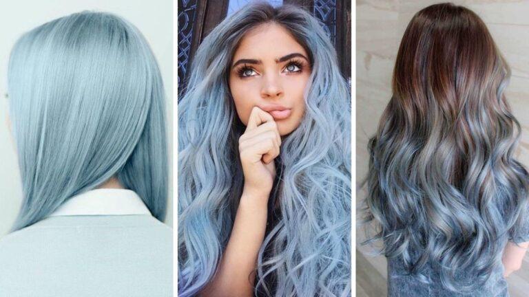 Волосы цвета синей сахарной ваты