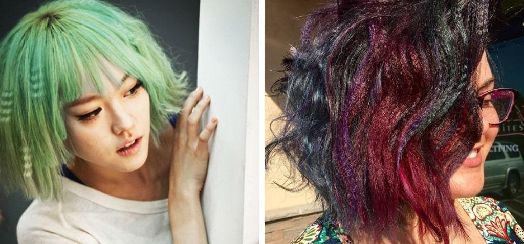 Гофре на короткие волосы яркие волосы