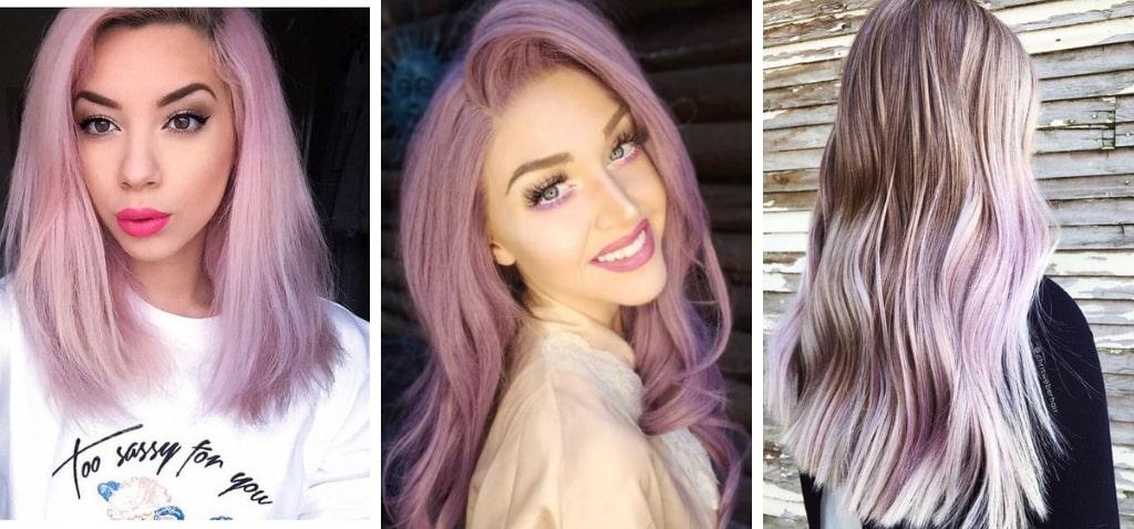 Кому подходят розово-фиолетовые волосы