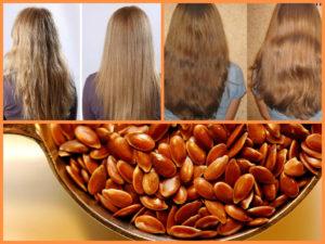 Маска для волос из льняного семени