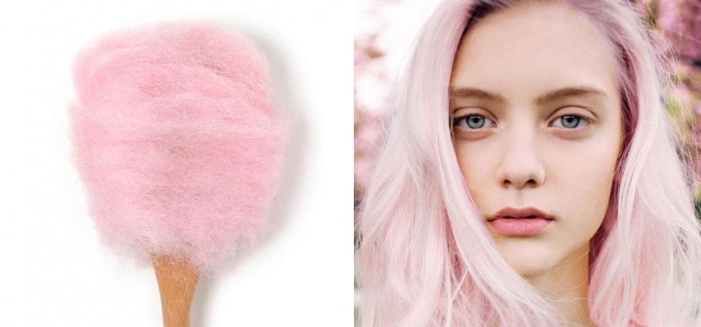 Нежно-розовое окрашивание волос