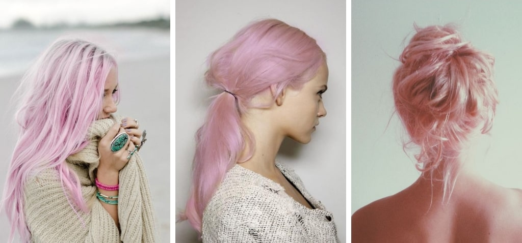 нежно-розовый цвет волос фото