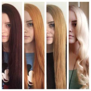 Химическое обесцвечивание волоспроходит в несколько этапов.
