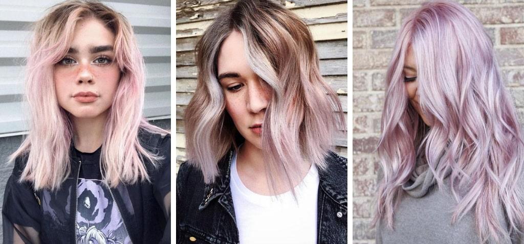 Розово-фиолетовый цвет волос фото