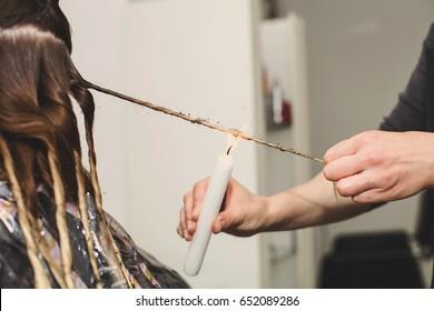 Велатерапия стрижка волос огнем